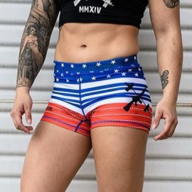 "THE BARBELL CARTEL - Short femme ""American Flag"""