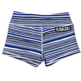 "SAVAGE BARBELL - Short Femme ""Blue Jawbreaker"""