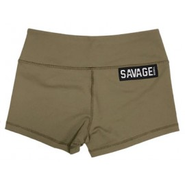 "SAVAGE BARBELL - Women Booty Short ""Army"""