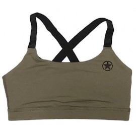 "SAVAGE BARBELL - Brassière Femme ""Sports Bra - Savage Army"""