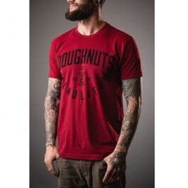 "DOUGHNUTS & DEADLIFTS - T-shirt ""BASICS Insignia - Cardinal red"""
