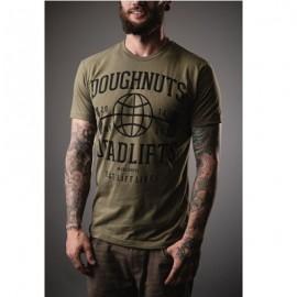 "DOUGHNUTS & DEADLIFTS - ""BASICS Muscle Beach"" Olive T-shirt"