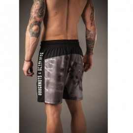 "DOUGHNUTS & DEADLIFTS -""PERFORM - Black Tie Dye"" Mens Short"