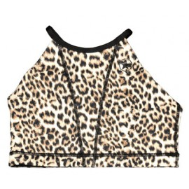 "SAVAGE BARBELL Top ""Sports Bra - Leopard Web Back"""