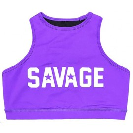 "SAVAGE BARBELL - Brassière Femme ""Sports Bra - High Neck Purple"""
