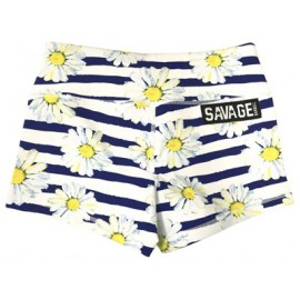 "SAVAGE BARBELL - Women Booty Short ""Sunshine Daisy Dukes"""