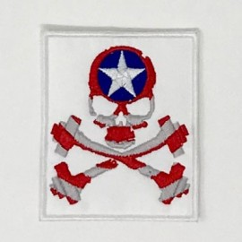 "SKULLFIT - Patch Velcro ""Captain"""