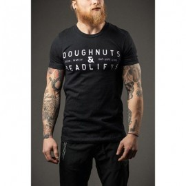 "DOUGHNUTS & DEADLIFTS - ""IRON ROSE"" - Black T-shirt"