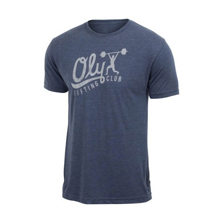 T-shirt Homme JUMPBOX FITNESS Bleu marine modèle OLY LIFTING CLUB 1