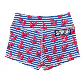 "SAVAGE BARBELL - Women Booty Short ""Shipwreck"""