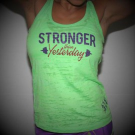 "321 APPAREL - Débardeur Femme ""STRONGER THAN YESTERDAY"""