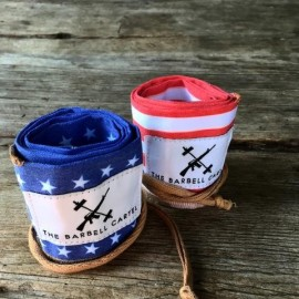 THE BARBELL CARTEL - Protège poignets coton AMERICAN FLAG