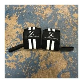 "THE BARBELL CARTEL - Elastic Velcro Wrist Wraps ""Black"""