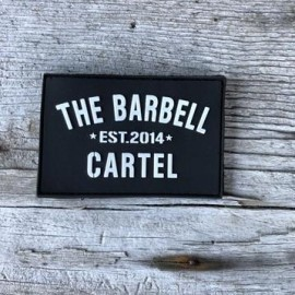 "THE BARBELL CARTEL - Patch Velcro PVC ""Classic logo"""