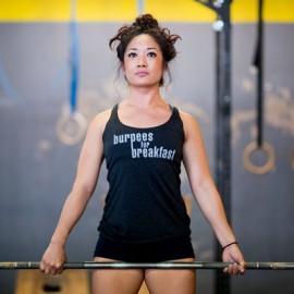JUMPBOX FITNESS - Débardeur Femme modèle BURPEES FOR BREAKFAST