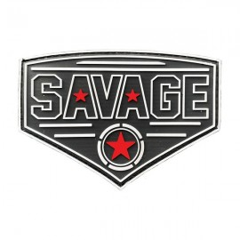 SAVAGE BARBELL - Diamond Red Star PVC Velcro Patch