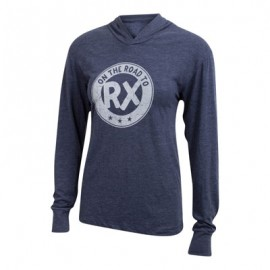 T-shirt Unisex manches longues et capuche JUMPBOX FITNESS modèle ON THE ROAD TO RX 1