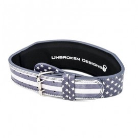 "UNBROKEN DESIGNS - ""Stars & Stripes"" Leather Lifting Belt"