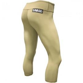 "SAVAGE BARBELL - Leggings Femme ""Capri Army"""