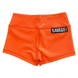 "SAVAGE BARBELL - Women Booty Short ""Orange Crush"""