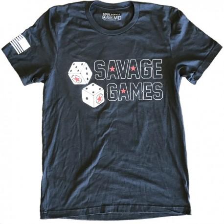 drwod_Savage_barbell_mens_t_shirt_savage_games