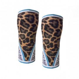 "UNBROKEN DESIGNS - ""Lioness Squared"" Neoprene Knee Sleeves"