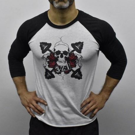 drwod_baseball_t-shirt_homme_321apparel_fitness_gris_front
