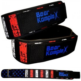 BEAR KOMPLEX - Stars & Stripes Straight Velcro strength belt