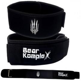 BEAR KOMPLEX - Black Straight Velcro strength belt