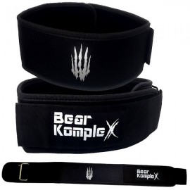 BEAR KOMPLEX - Black Straight Velcro strength belt