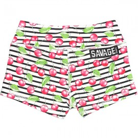 "SAVAGE BARBELL - Women Booty Short ""Cherry Bomb"""