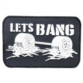 """SAVAGE BARBELL - Parche Velcro PVC """"Let's Bang"""""""