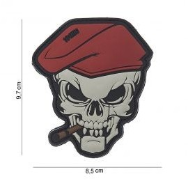 """DR WOD """"Skull with cigar"""" Rubber Velcro Patch"""