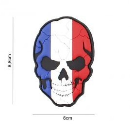 "DR WOD ""French cracked skull"" Rubber Velcro Patch"