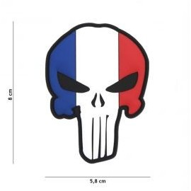 "DR WOD ""French Punisher"" Rubber Velcro Patch"