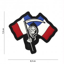 """DR WOD """"French Death"""" Rubber Velcro Patch"""