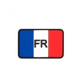 """DR WOD """"FR on French Flag"""" Rubber Velcro Patch"""