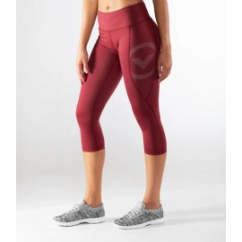 VIRUS - ECo34 | Stay Cool - Dark Berry Crop Compression Leggings