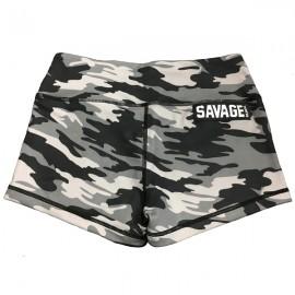 "SAVAGE BARBELL - Short Mujer ""Gray Camo"""