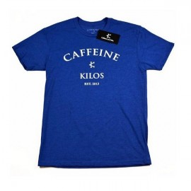 "CAFFEINE & KILOS - T-shirt Homme ""Arch Logo"" - Bleu"