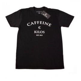"""CAFFEINE & KILOS - """"Arch Logo"""" Mens T-shirt - Black"""