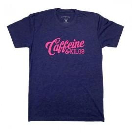 """CAFFEINE & KILOS - T-shirt Homme """"Script Logo"""" - Storm"""