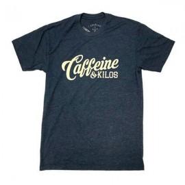"CAFFEINE & KILOS - T-shirt Homme ""Script Logo"" - Navy"