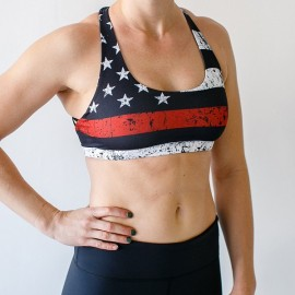 "BORN PRIMITIVE - Brassière Femme ""Vitality Sports Bra - Thin Red Line"""