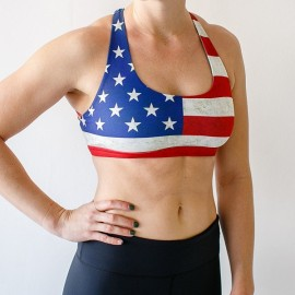 "BORN PRIMITIVE - Brassière Femme ""Vitality Sports Bra - ""USA"""