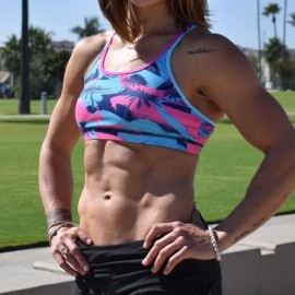 BORN PRIMITIVE - Warrior Sports Bra - Pink Palm - Official WZA Edition