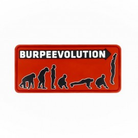 "DR WOD ""Burpee Evolution"" Rubber Velcro Patch"