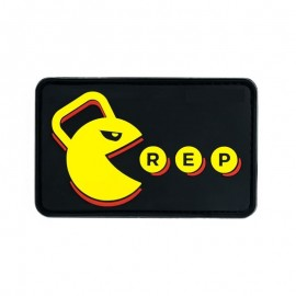 """DR WOD """"Eat Rep"""" Rubber Velcro Patch"""