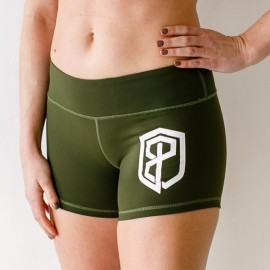 "BORN PRIMITIVE - Women Short ""Renewed Vigor Booty Short"" Tactical Green dr wod"
