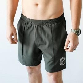 """BORN PRIMITIVE - Short """"Training Shorts"""" Tactical Green"""